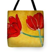 Tulips And Love Happy Together Tote Bag