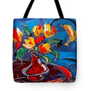 Tulips And Moon Tote Bag