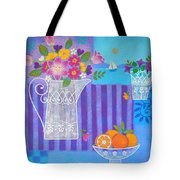 Tulips And White Lace Tote Bag by Mary Maki Rae