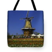 Tulips At The Windmill Tote Bag
