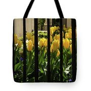 Tulips Behind Bars Tote Bag