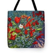 Tulips By The Gate Tote Bag