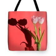 Tulips Casting Shadows Tote Bag