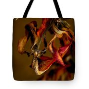 Tulip's Demise - A Natural Abstract Tote Bag