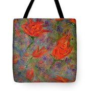 Tulips- Floral Art- Abstract Painting Tote Bag