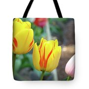 Tulips Garden Art Prints Yellow Red Tulip Flowers Baslee Troutman Tote Bag