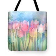 Tulips In A Row Tote Bag