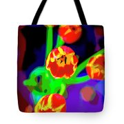Tulips In Abstract Tote Bag