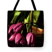 Tulips In Evening Sunlight Tote Bag