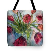 Tulips In Rosie's Vase Tote Bag