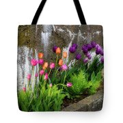 Tulips In Ruin Tote Bag by Michael Hubley