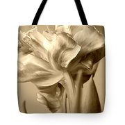 Tulips In Sepia Tote Bag