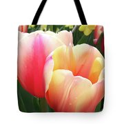 Tulips In Soft Pastels Tote Bag