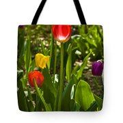 Tulips In The Garden Tote Bag