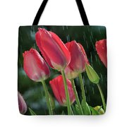 Tulips In The Rain Tote Bag