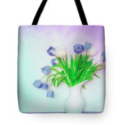Tulips In Winter Tote Bag