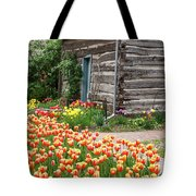 Tulips Lead To The Cabin Tote Bag