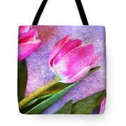 Tulips Meets Texture Tote Bag