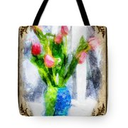 Tulips On A Half Shelf Tote Bag