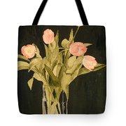 Tulips On Velvet Tote Bag