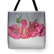 Tulips On White Tote Bag