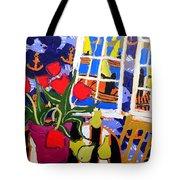 Tulips, Pears, Sailboats Tote Bag