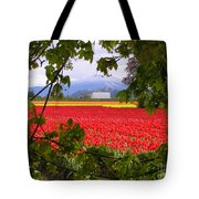 Tulips Secret Window Tote Bag