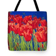 Tulips Tulip Flowers Fine Art Print Giclee High Quality Exceptional Color Garden Nature Botanical Tote Bag
