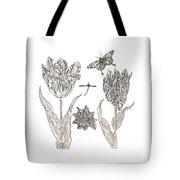 Tulips Vintage Botanical Tote Bag