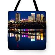 Tulsa Skyline At Twilight Tote Bag by Tamyra Ayles
