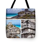 Tulum, Mexico Collage Tote Bag