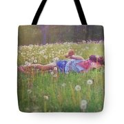 Tumble In The Grass Tote Bag