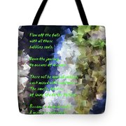 Tumble Off The Waterfall  Tote Bag