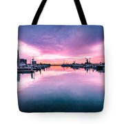Tuna Harbor Sunrise Tote Bag