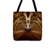 Tunnel Abstract Tote Bag