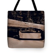 Tunnel Log - Sequoia National Park Tote Bag