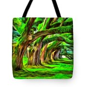 Tunnel Tree Tote Bag
