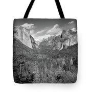 Tunnel View Bw Tote Bag
