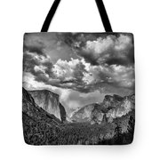 Tunnel View In Black And White Tote Bag