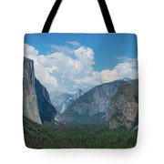 Tunnel View In Yosemite  Tote Bag