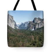 Tunnel View Of Yosemite During Spring Tote Bag