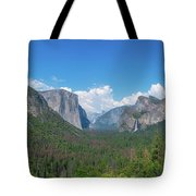 Tunnel View Panorama  Tote Bag