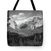 Tunnel View Shadow Bw Tote Bag