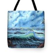 Turbulent Sea Tote Bag