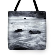 Turbulent Seas Tote Bag by Mike  Dawson