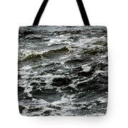 Turbulent Water Near The Shore Tote Bag