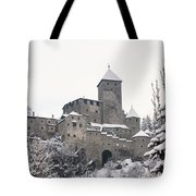 Tures Castle In The Snow Tote Bag