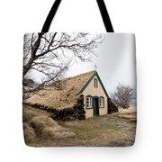 Turf Church At Hof In Iceland Tote Bag