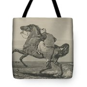 Turk Mounting His Horse Tote Bag