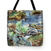 Turkish Woman By A Stream Tote Bag